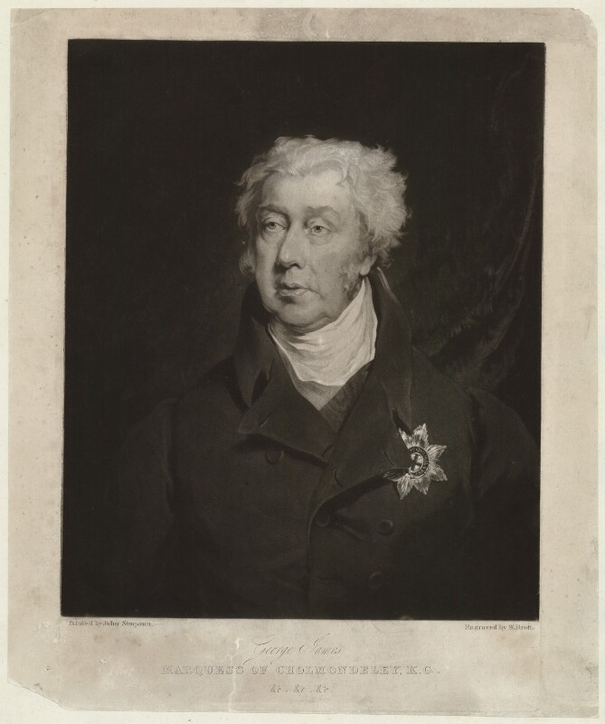 George James Cholmondeley, 1st Marquess of Cholmondeley, by William Brett, after  John Simpson, (1825) - NPG D33188 - © National Portrait Gallery, London