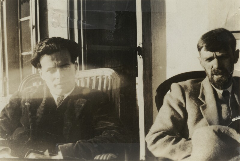 Aldous Huxley; D.H. Lawrence, possibly by Lady Ottoline Morrell, 1928 - NPG x140427 - © National Portrait Gallery, London