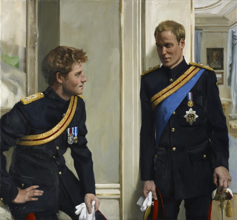 Prince William, Duke of Cambridge; Prince Harry, by Nicky Philipps, 2009 - NPG 6876 - © National Portrait Gallery, London (with contractual restrictions)