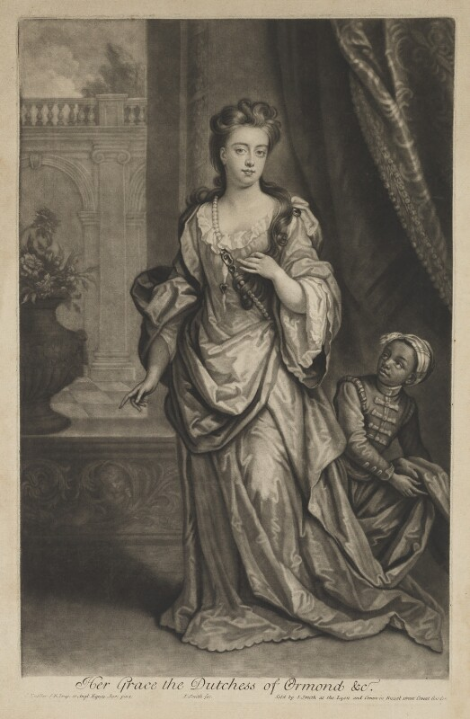 Mary Butler (née Somerset), Duchess of Ormonde, by and published by John Smith, after  Sir Godfrey Kneller, Bt, 1702 - NPG D31315 - © National Portrait Gallery, London