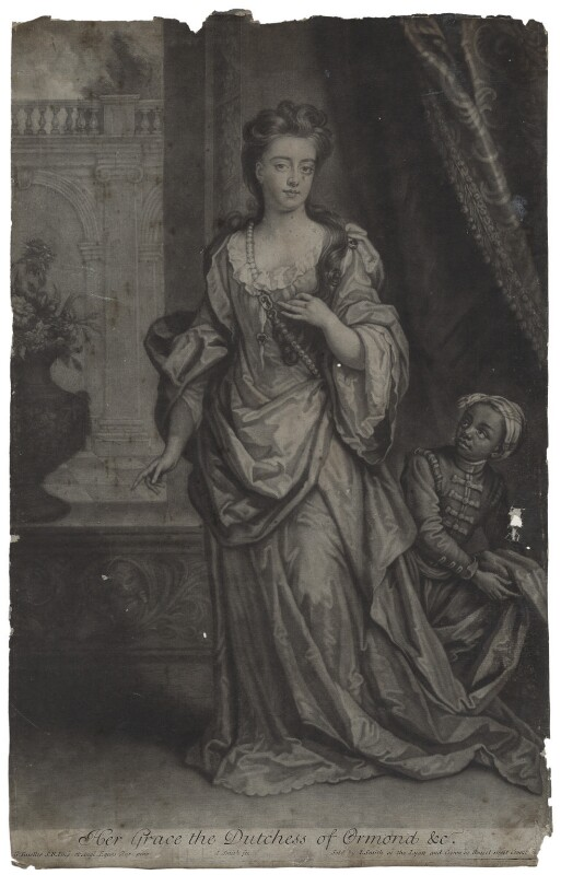 Mary Butler (née Somerset), Duchess of Ormonde, by and published by John Smith, after  Sir Godfrey Kneller, Bt, 1702 - NPG D31318 - © National Portrait Gallery, London