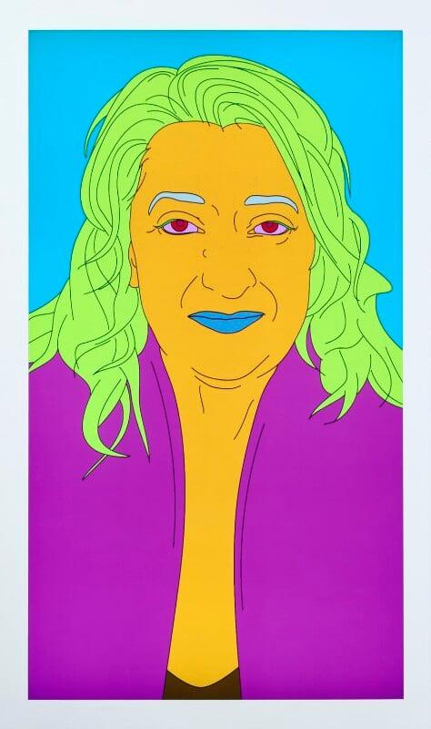 Dame Zaha Mohammad Hadid by Michael Craig-Martin 2008 NPG 6840