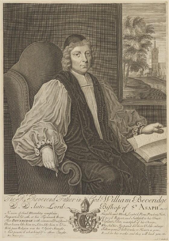 William Beveridge, by Michael Vandergucht, after  Benjamin Ferrers, 1709 - NPG D9268 - © National Portrait Gallery, London