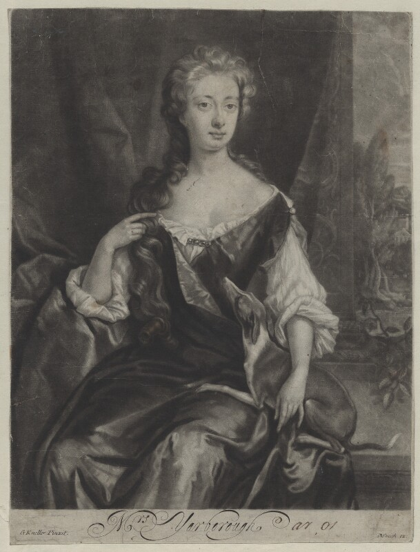 Henrietta Maria Wyvill (née Yarborough), Lady Wyvill, by and published by John Smith, after  Sir Godfrey Kneller, Bt, 1681-1688 - NPG D31347 - © National Portrait Gallery, London
