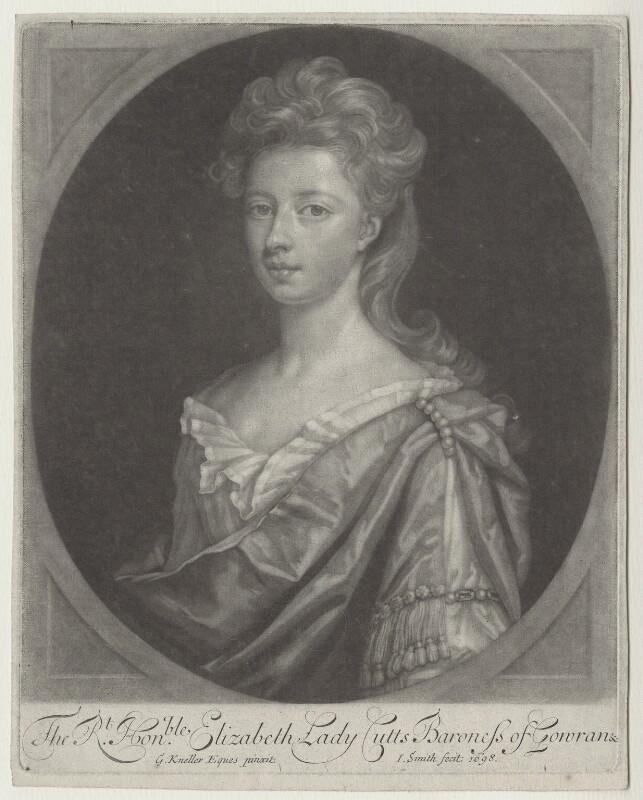 Elizabeth Cutts (née Pickering), Lady Cutts of Gowran, by John Smith, after  Sir Godfrey Kneller, Bt, 1698 - NPG D31355 - © National Portrait Gallery, London