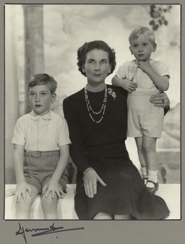 Duchess of Gloucester with her sons, by Madame Yevonde, March 1959 - NPG x34008 - © Yevonde Portrait Archive