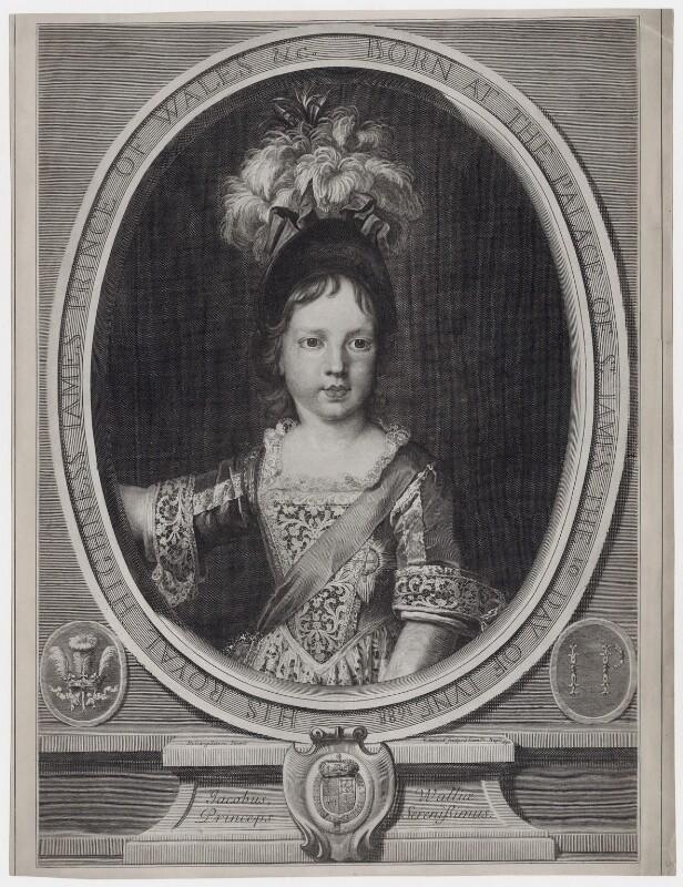 Prince James Francis Edward Stuart, by Gérard Edelinck, after  Nicolas de Largillière, 1692 - NPG D31380 - © National Portrait Gallery, London