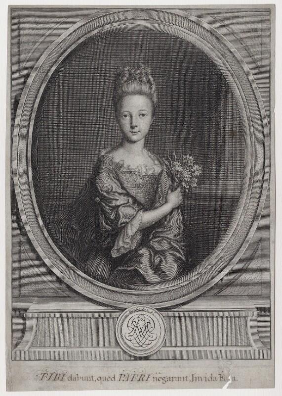 Princess Louisa Maria Theresa Stuart, after Nicolas de Largillière, early 18th century - NPG D31382 - © National Portrait Gallery, London