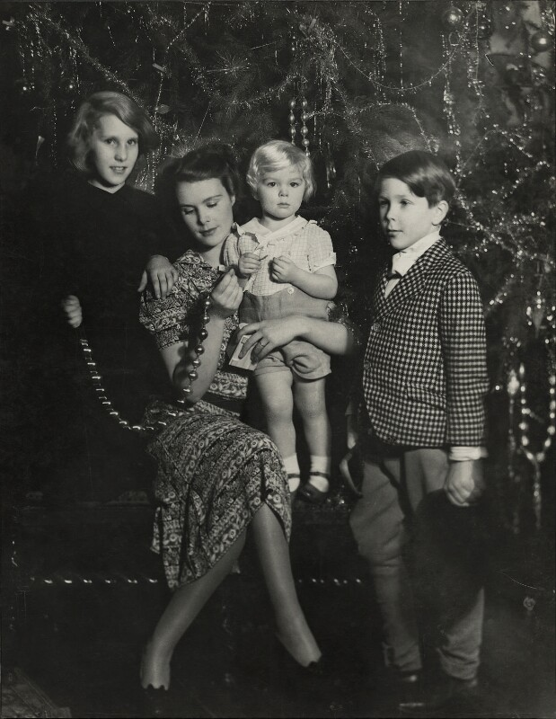 Anne, Countess of Rosse with her children, by Madame Yevonde, 1939 - NPG x14368 - © Yevonde Portrait Archive