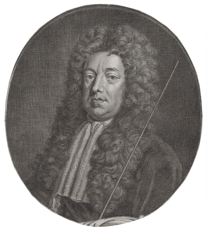 Sidney Godolphin, 1st Earl of Godolphin, by Jacobus Houbraken, published by  John & Paul Knapton, after  Sir Godfrey Kneller, Bt, circa 1740 (circa 1704-1710) - NPG D31388 - © National Portrait Gallery, London