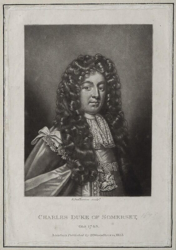 Charles Seymour, 6th Duke of Somerset, by Robert Dunkarton, published by  Samuel Woodburn, published 1813 - NPG D31391 - © National Portrait Gallery, London