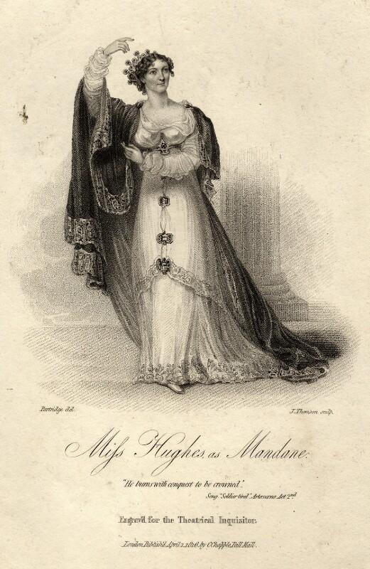 Elizabeth Hughes, by James Thomson (Thompson), after  John Partridge, published 1816 - NPG D9277 - © National Portrait Gallery, London