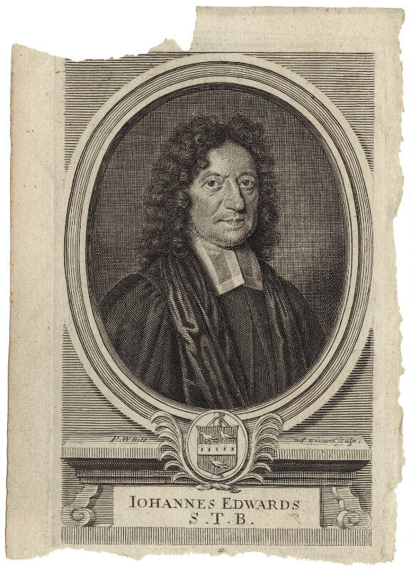 John Edwards, by Robert White, published 1698 - NPG D31472 - © National Portrait Gallery, London