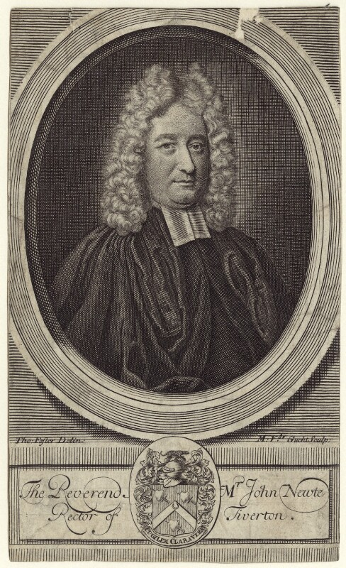 John Newte, by Michael Vandergucht, after  Thomas Forster, early 18th century - NPG D31491 - © National Portrait Gallery, London