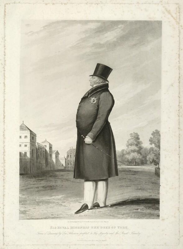 Frederick, Duke of York and Albany, by Edward Scriven, published by and after  George Atkinson, published 1825 - NPG D33226 - © National Portrait Gallery, London