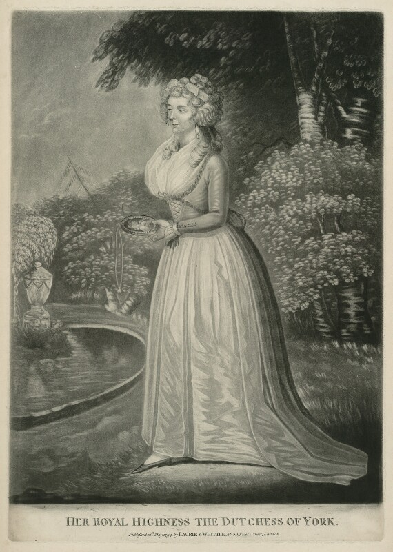 Frederica Charlotte Ulrica Catherina, Duchess of York and Albany, published by Robert Laurie, published by  James Whittle, published 12 May 1794 - NPG D33229 - © National Portrait Gallery, London