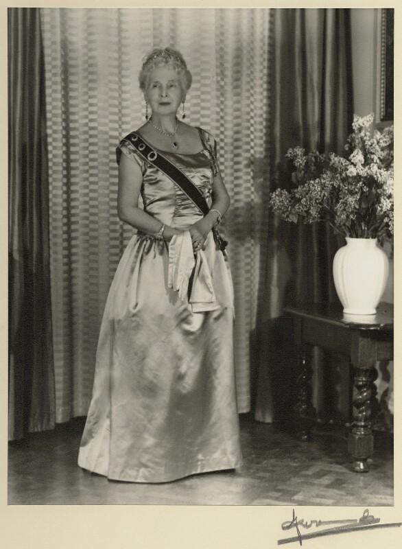 Princess Alice, Countess of Athlone, by Madame Yevonde, 1963 - NPG x11628 - © Yevonde Portrait Archive