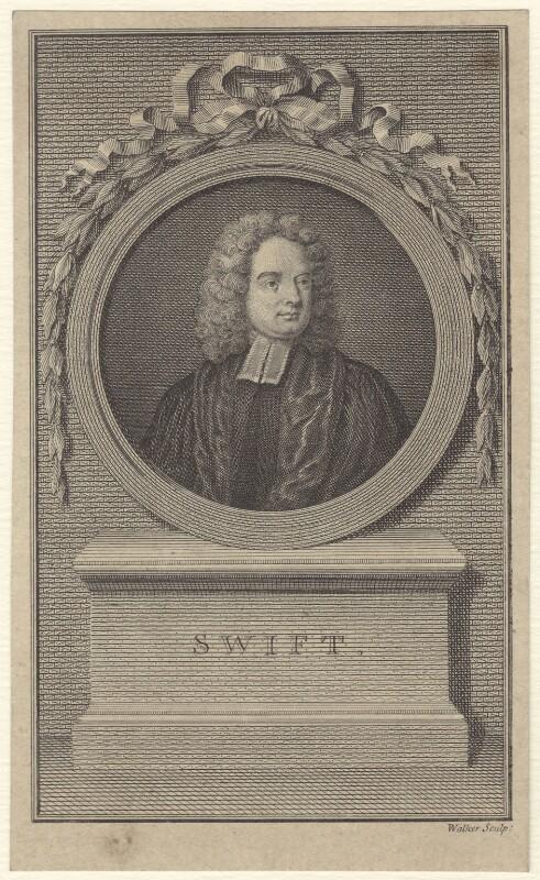 Jonathan Swift, by William Walker, after  Charles Jervas, published 1779 - NPG D31517 - © National Portrait Gallery, London