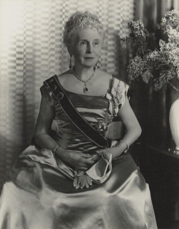 Princess Alice, Countess of Athlone, by Madame Yevonde, 1963 - NPG x11630 - © Yevonde Portrait Archive