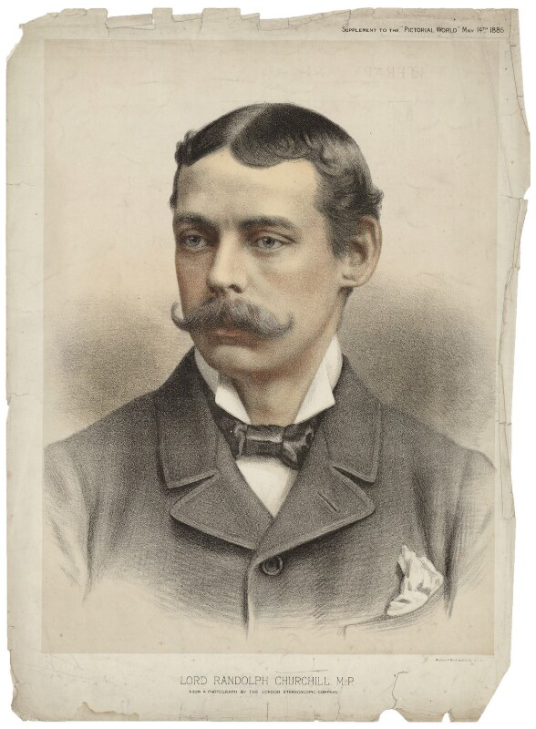 Lord Randolph Churchill, by Maclure & Macdonald, after  London Stereoscopic & Photographic Company, published 1885 - NPG D33253 - © National Portrait Gallery, London