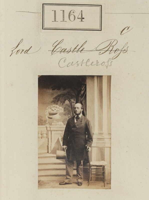 Valentine Augustus Browne, 4th Earl of Kenmare, by Camille Silvy, 1860 - NPG Ax50628 - © National Portrait Gallery, London