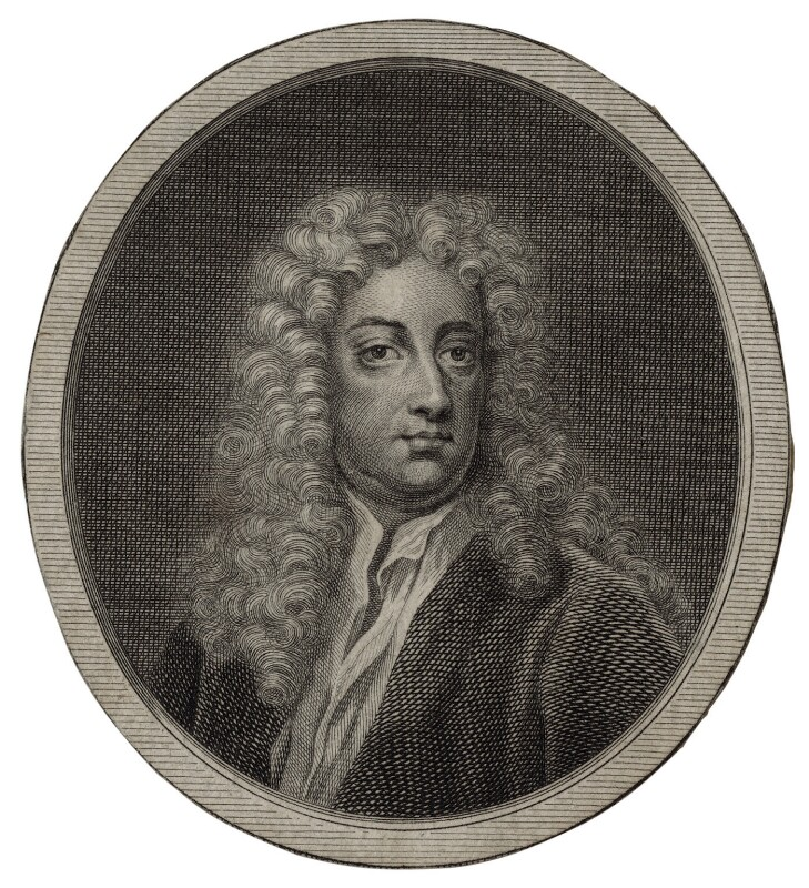 Joseph Addison, after Sir Godfrey Kneller, Bt, mid to late 18th century - NPG D27305 - © National Portrait Gallery, London