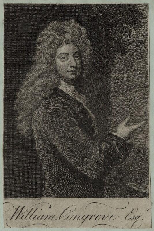 William Congreve, after Sir Godfrey Kneller, Bt, mid 18th century - NPG D27308 - © National Portrait Gallery, London