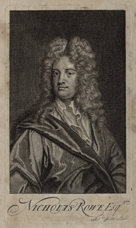 Nicholas Rowe, by Michael Vandergucht, after  Sir Godfrey Kneller, Bt, published 1715 - NPG D27315 - © National Portrait Gallery, London