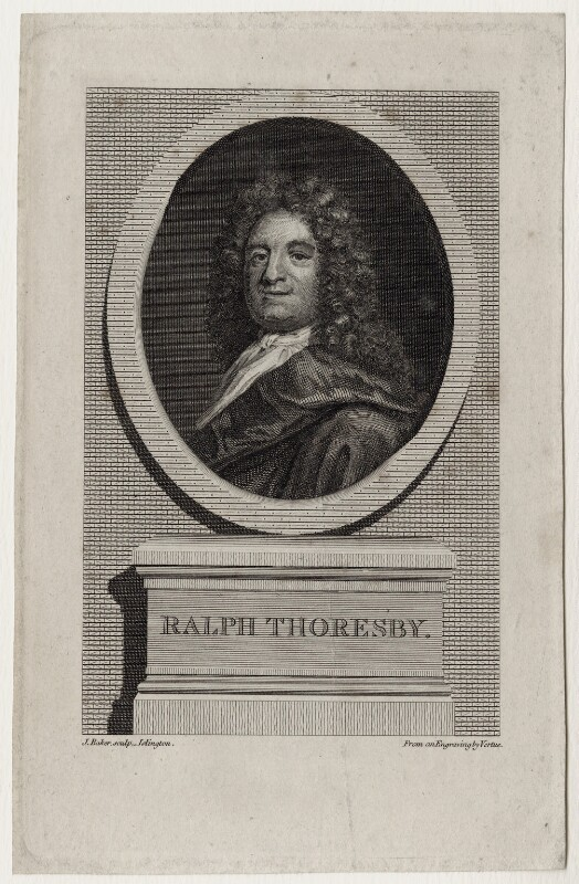 Ralph Thoresby, by J. Baker, after  George Vertue, after  James Parmentier, circa 1796 - NPG D27320 - © National Portrait Gallery, London