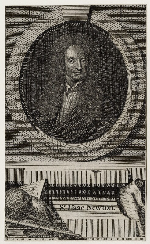 Sir Isaac Newton, after Sir Godfrey Kneller, Bt, published 1748 - NPG D27322 - © National Portrait Gallery, London
