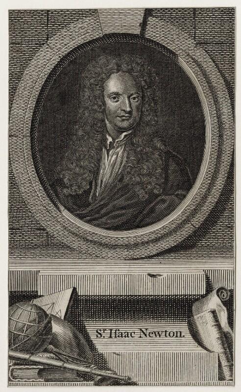 Sir Isaac Newton, after Sir Godfrey Kneller, Bt, published 1748 - NPG D27322 - © National Portrait Gallery, London