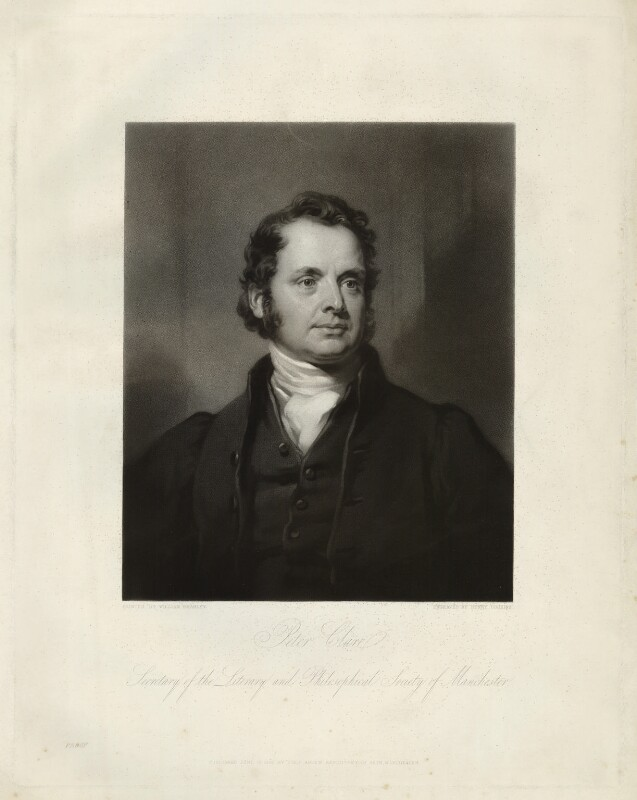 Peter Clare, by Henry Cousins, after  William Bradley, published 1838 - NPG D33266 - © National Portrait Gallery, London