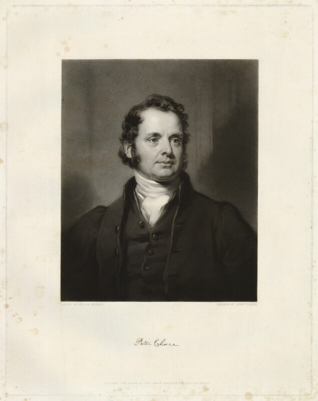 Peter Clare, by Henry Cousins, after  William Bradley, published 1838 - NPG D33267 - © National Portrait Gallery, London