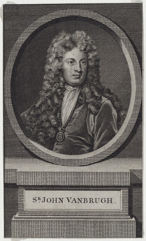 Sir John Vanbrugh, after Sir Godfrey Kneller, Bt, mid 18th century - NPG D27349 - © National Portrait Gallery, London