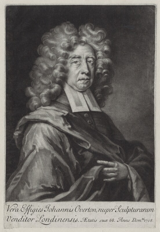 John Overton, after Unknown artist, 1708 - NPG D27362 - © National Portrait Gallery, London