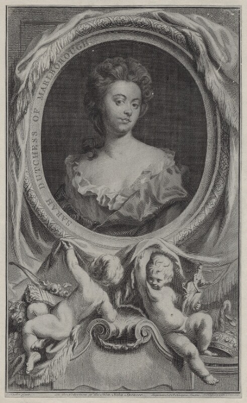 Sarah Churchill (née Jenyns (Jennings)), Duchess of Marlborough, by Jacobus Houbraken, published by  John & Paul Knapton, after  Sir Godfrey Kneller, Bt, 1745 - NPG D27367 - © National Portrait Gallery, London