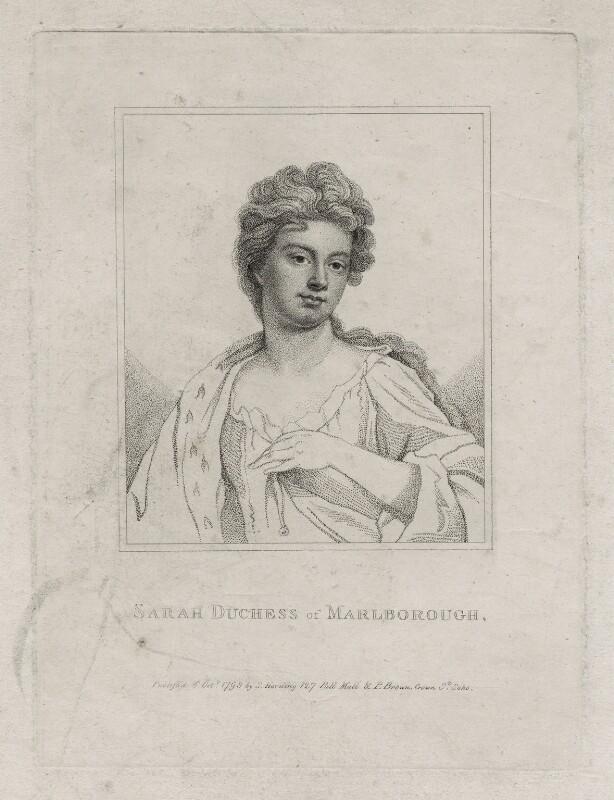 Sarah Churchill (née Jenyns (Jennings)), Duchess of Marlborough, published by Silvester Harding, after  Sir Godfrey Kneller, Bt, published 1798 - NPG D27370 - © National Portrait Gallery, London