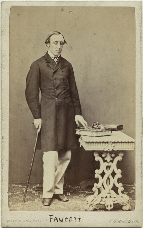 Henry Fawcett, by Horatio Nelson King, 1860s - NPG x15091 - © National Portrait Gallery, London