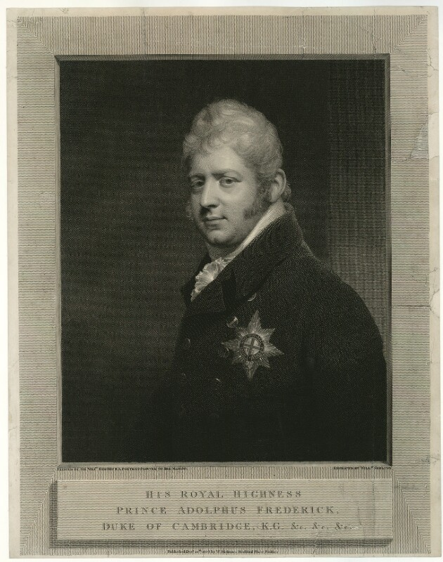 Prince Adolphus Frederick, Duke of Cambridge, by and published by William Skelton, after  Sir William Beechey, published 1808 - NPG D33283 - © National Portrait Gallery, London