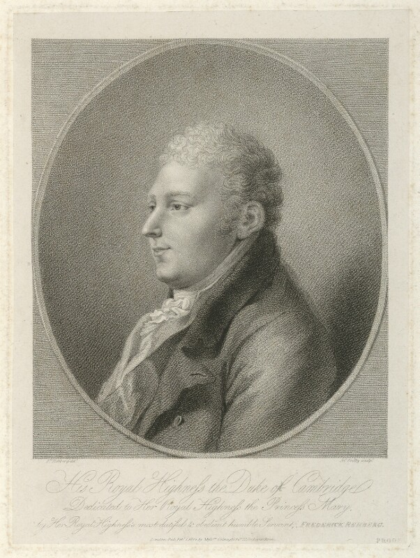 Prince Adolphus Frederick, Duke of Cambridge, by James Godby, published by  Colnaghi & Co, after  Friedrich Rehberg, published 1 February 1814 - NPG D33285 - © National Portrait Gallery, London