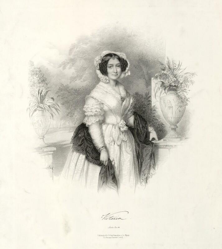 Princess Victoria, Duchess of Kent and Strathearn, by Émile Desmaisons, 1841 - NPG D33295 - © National Portrait Gallery, London