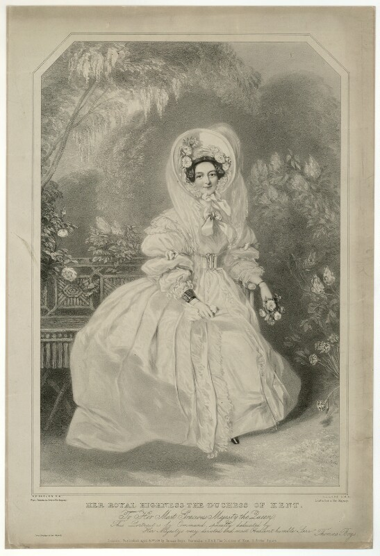 Princess Victoria, Duchess of Kent and Strathearn, by Richard James Lane, published by  Thomas Boys, after  Alfred Edward Chalon, published 1838 - NPG D33296 - © National Portrait Gallery, London