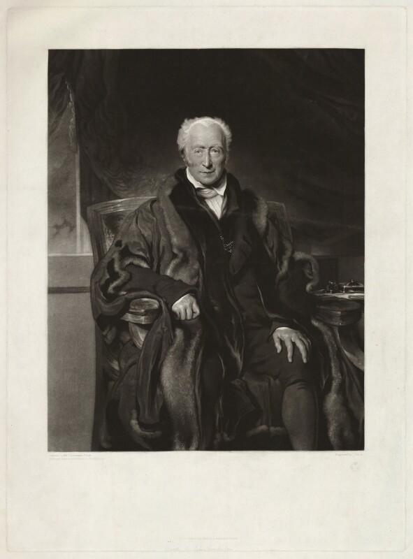 Richard Clark, by John Scarlett Davis, after  Sir Thomas Lawrence, published 1829 - NPG D33299 - © National Portrait Gallery, London