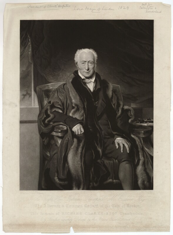 Richard Clark, by John Scarlett Davis, after  Sir Thomas Lawrence, published 1829 - NPG D33300 - © National Portrait Gallery, London
