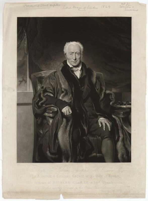 Richard Clark, by John Scarlett Davis, after  Sir Thomas Lawrence, published 1829 - NPG D33300 - © National Portrait Gallery, London