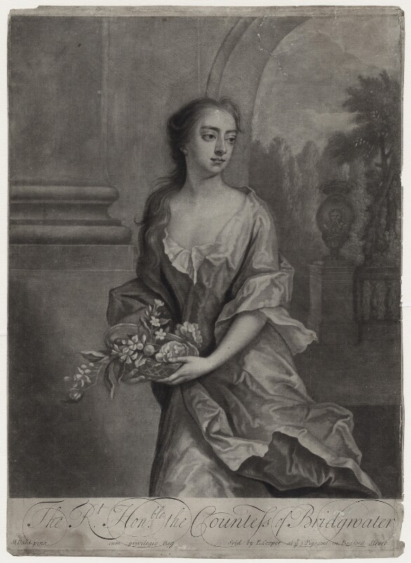 Elizabeth Egerton (née Churchill), Countess of Bridgewater, by William Faithorne Jr, published by  Edward Cooper, after  Michael Dahl, early 1700s - NPG D27382 - © National Portrait Gallery, London