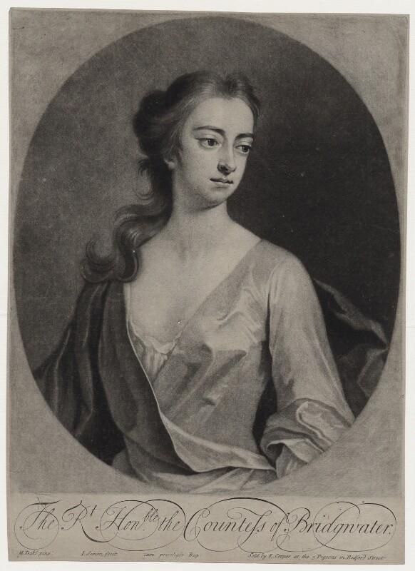 Elizabeth Egerton (née Churchill), Countess of Bridgewater, by John Simon, sold by  Edward Cooper, after  Michael Dahl, 1703 or after - NPG D27383 - © National Portrait Gallery, London