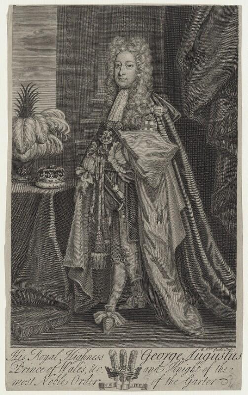 King George II, by Michael Vandergucht, early 18th century - NPG D27412 - © National Portrait Gallery, London