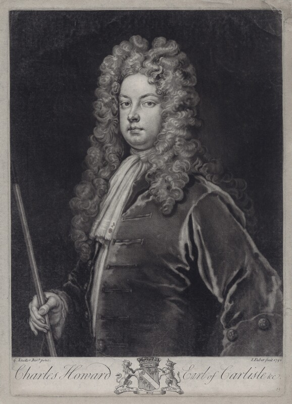 Charles Howard, 3rd Earl of Carlisle, by John Faber Jr, after  Sir Godfrey Kneller, Bt, 1732 (circa 1700-1712) - NPG D27434 - © National Portrait Gallery, London