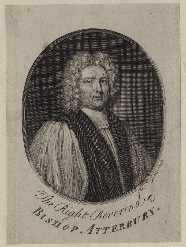 Francis Atterbury, by Michael Vandergucht, after  Sir Godfrey Kneller, Bt, early 18th century - NPG D27450 - © National Portrait Gallery, London